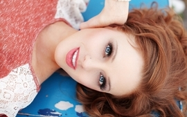 Women blue eyes redheads willow smiling lying down faces wallpaper