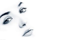 Women closeup white background wallpaper
