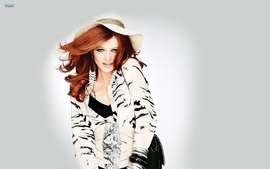 Women dress redheads lipstick makeup cintia dicker wallpaper