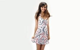 Women dress victoria justice smiles white background wallpaper