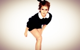 Women emma watson actress bunny ears 2 wallpaper