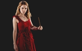Women emma watson harry potter red dress hermione granger wallpaper