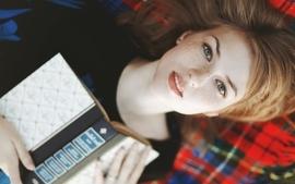 Women freckles books 404 faces strawberry blonde pale skin wallpaper