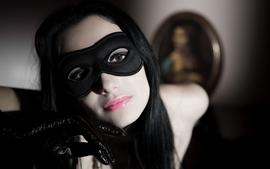 Women gloves masks lipstick faces pale skin black hair carmen b wallpaper