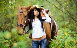 Women horses wallpaper