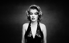 Women marilyn monroe monochrome wallpaper