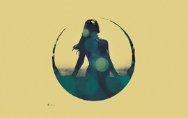 Women minimalistic music silhouette artwork album covers tycho wallpaper