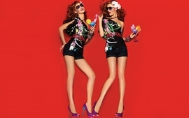 Women minimalistic redheads models fashion freckles cintia 2 wallpaper