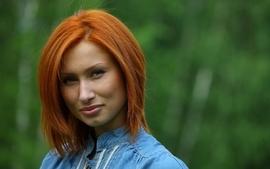Women models metart magazine orange hair faces juline a wallpaper