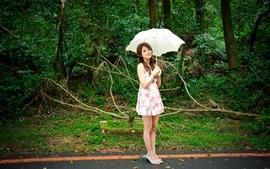 Women people plants asians umbrellas mikako zhang kaijie wallpaper
