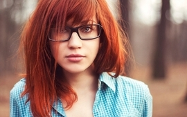 Women photography redheads glasses shirt faces straight hair wallpaper