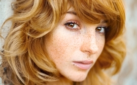 Women redheads freckles faces vica kerekes wallpaper