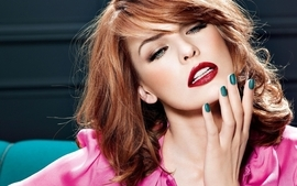 Women redheads milla jovovich faces wallpaper