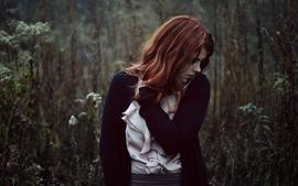 Women redheads models wallpaper