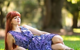 Women redheads outdoors people wallpaper