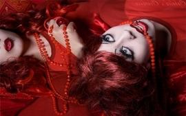 Women redheads wallpaper