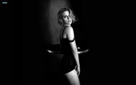 Women scarlett johansson celebrity grayscale black background wallpaper