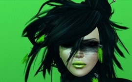 Women simple background faces green background second life wallpaper