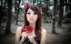 Women trees asians taiwan roses mikako zhang kaijie wallpaper