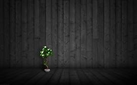 Wood textures plants wallpaper