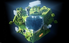 World minecraft wallpaper