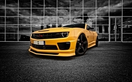 Yellow cars chevrolet selective coloring yellow cars wallpaper