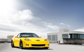 Yellow cars vehicles supercars tuning chevrolet corvette 2 wallpaper