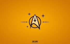 Yellow star trek command wallpaper