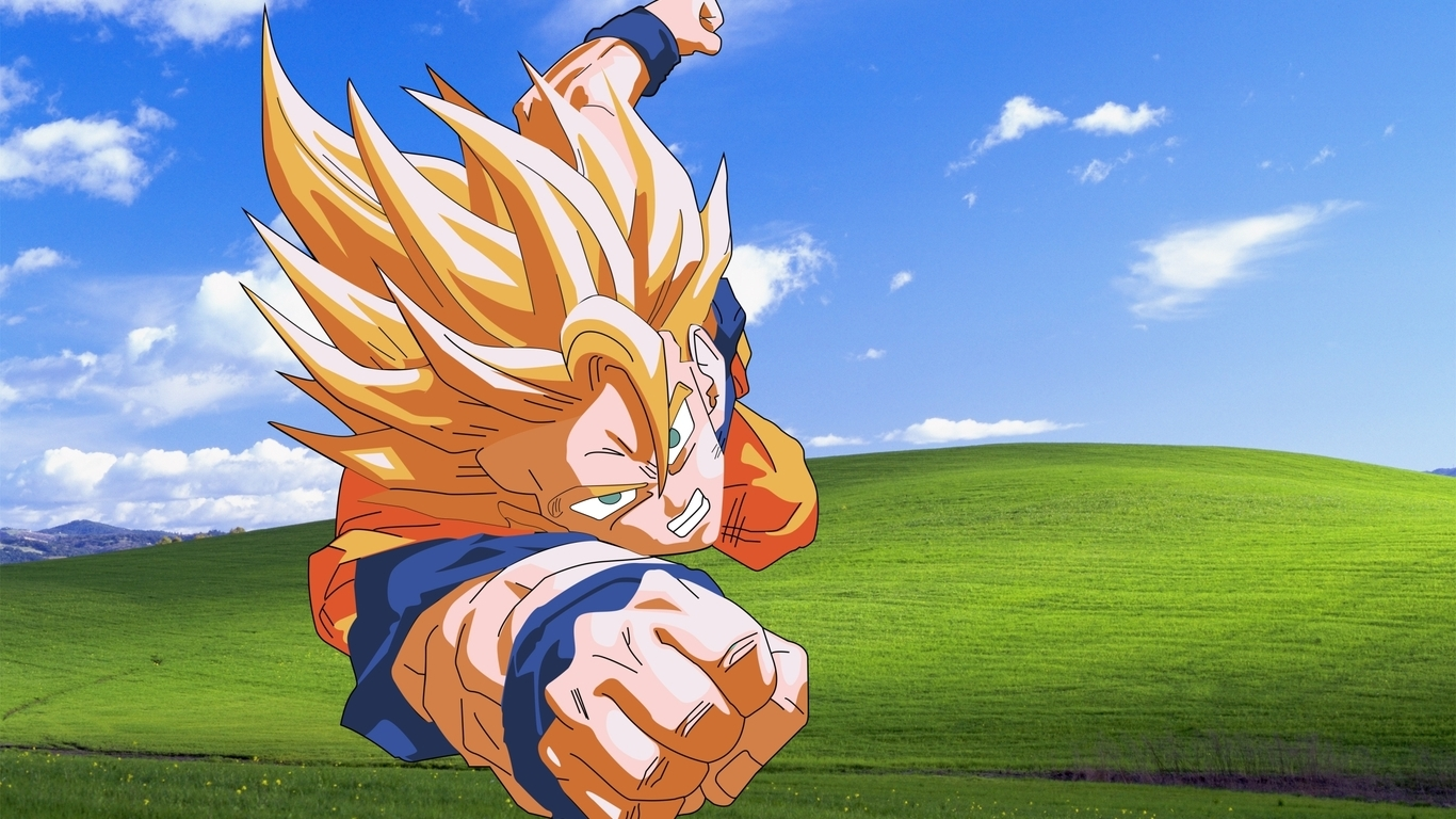 Bliss windows xp son goku microsoft windows dragon ball z (1366x768)
