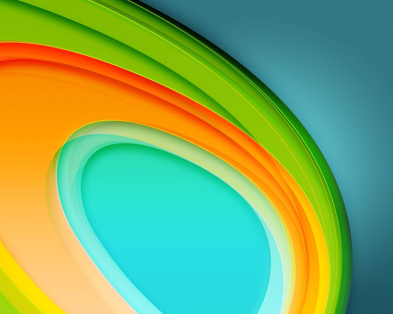 Colorful Circles 4K 5K (1280x1024)