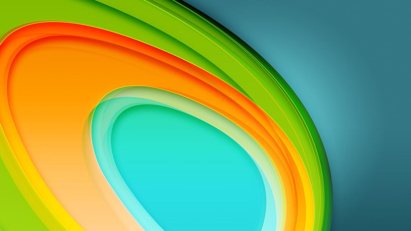 Colorful Circles 4K 5K (1366x768)