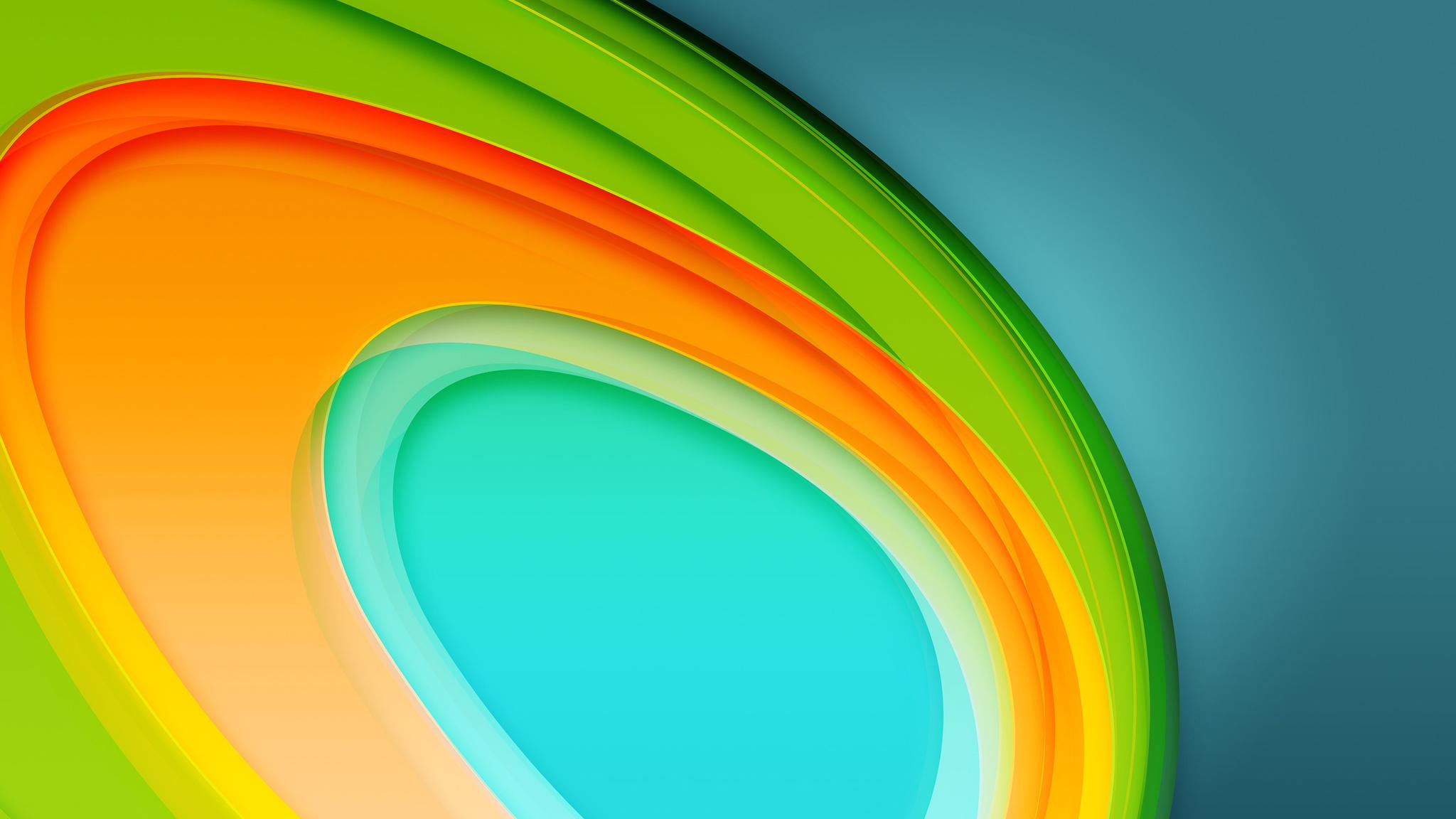 Colorful Circles 4K 5K (2048x1152)