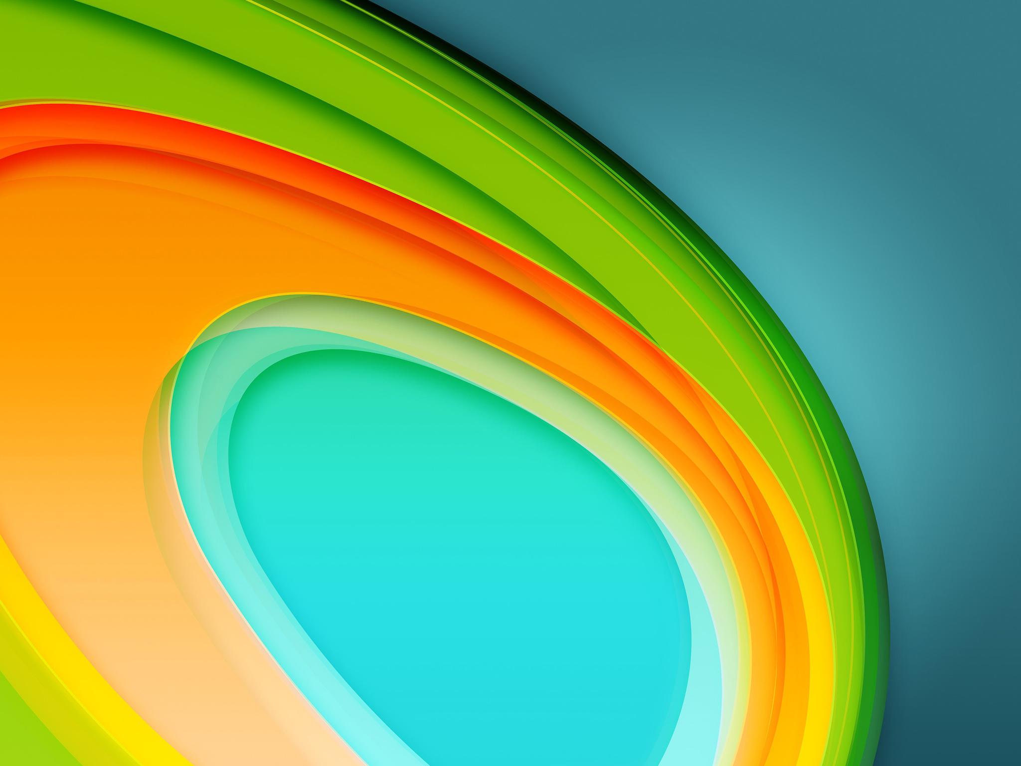 Colorful Circles 4K 5K (2048x1536)