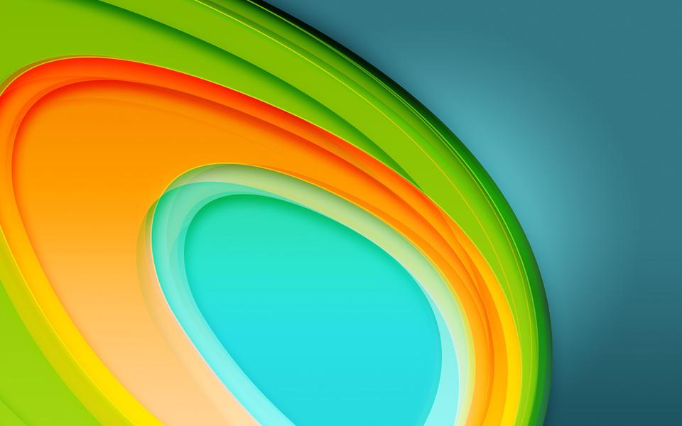 Colorful Circles 4K 5K (960x600)