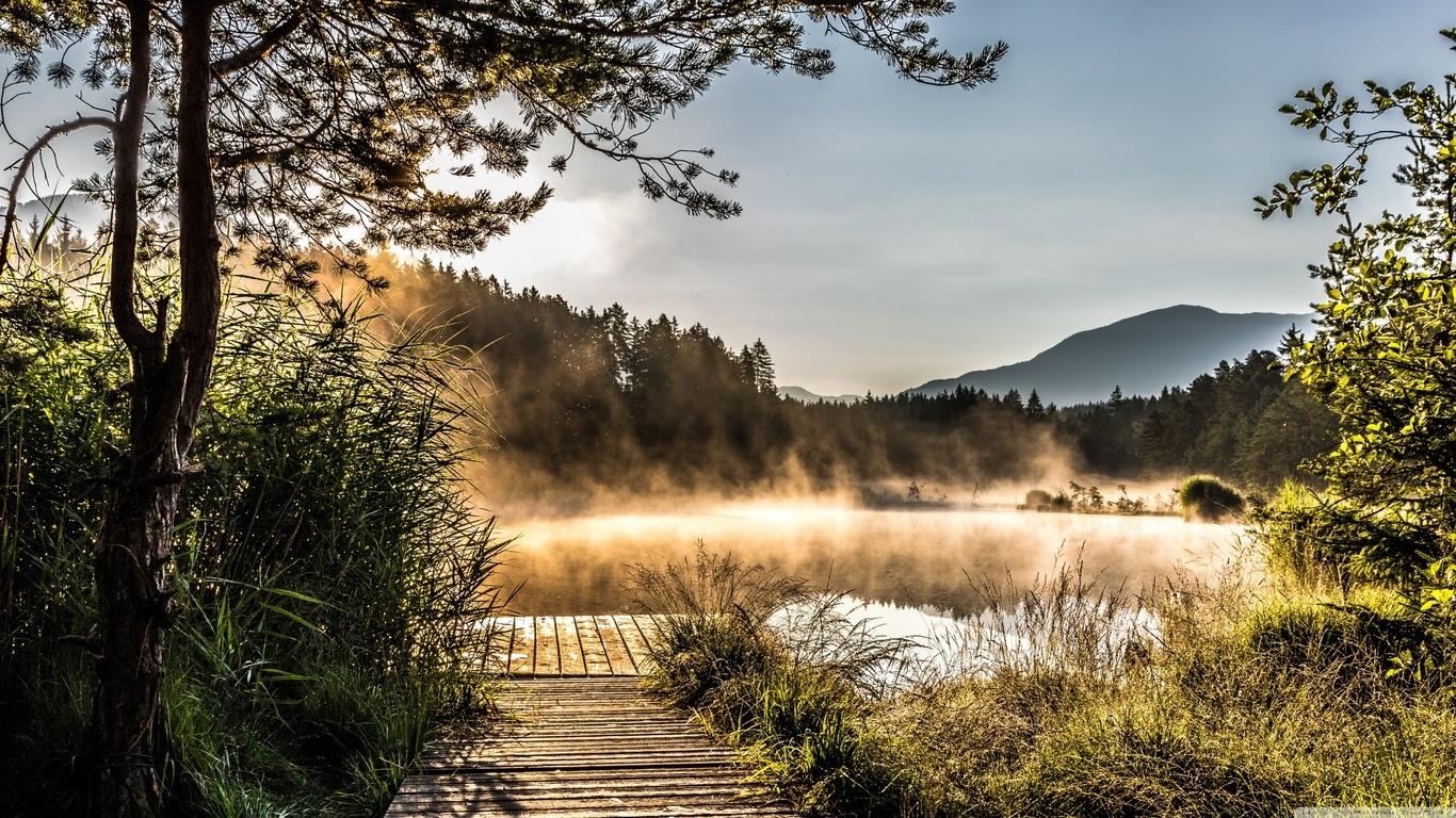 Egelsee Lake in Carinthia (1366x768)