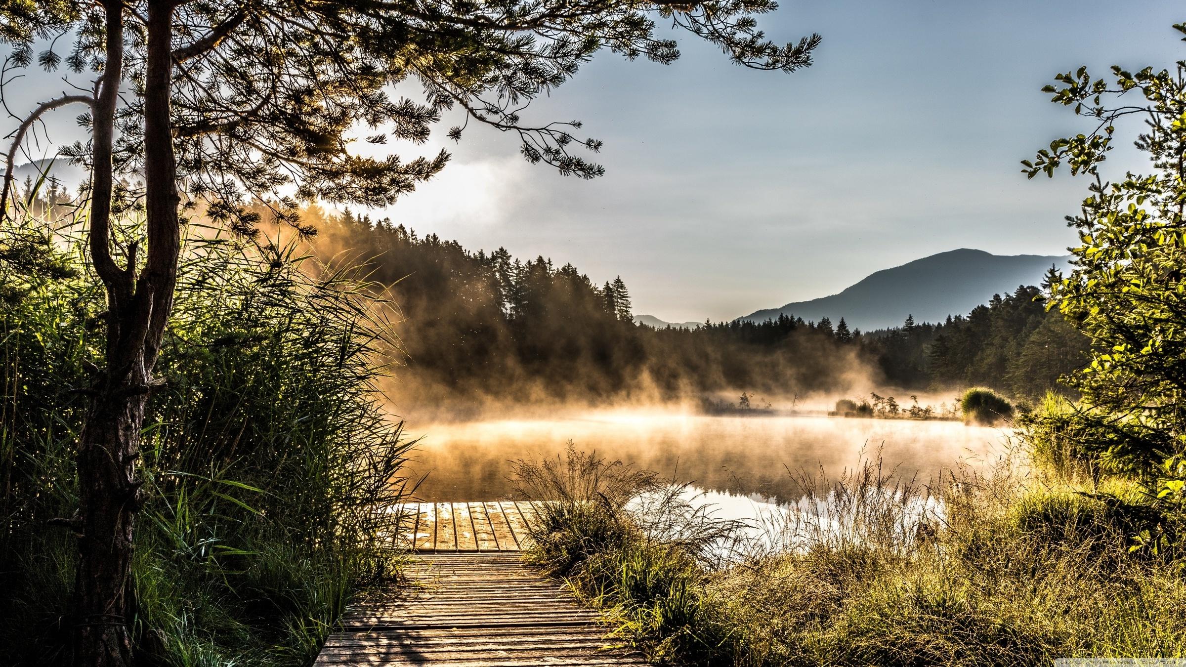 Egelsee Lake in Carinthia (2400x1350)