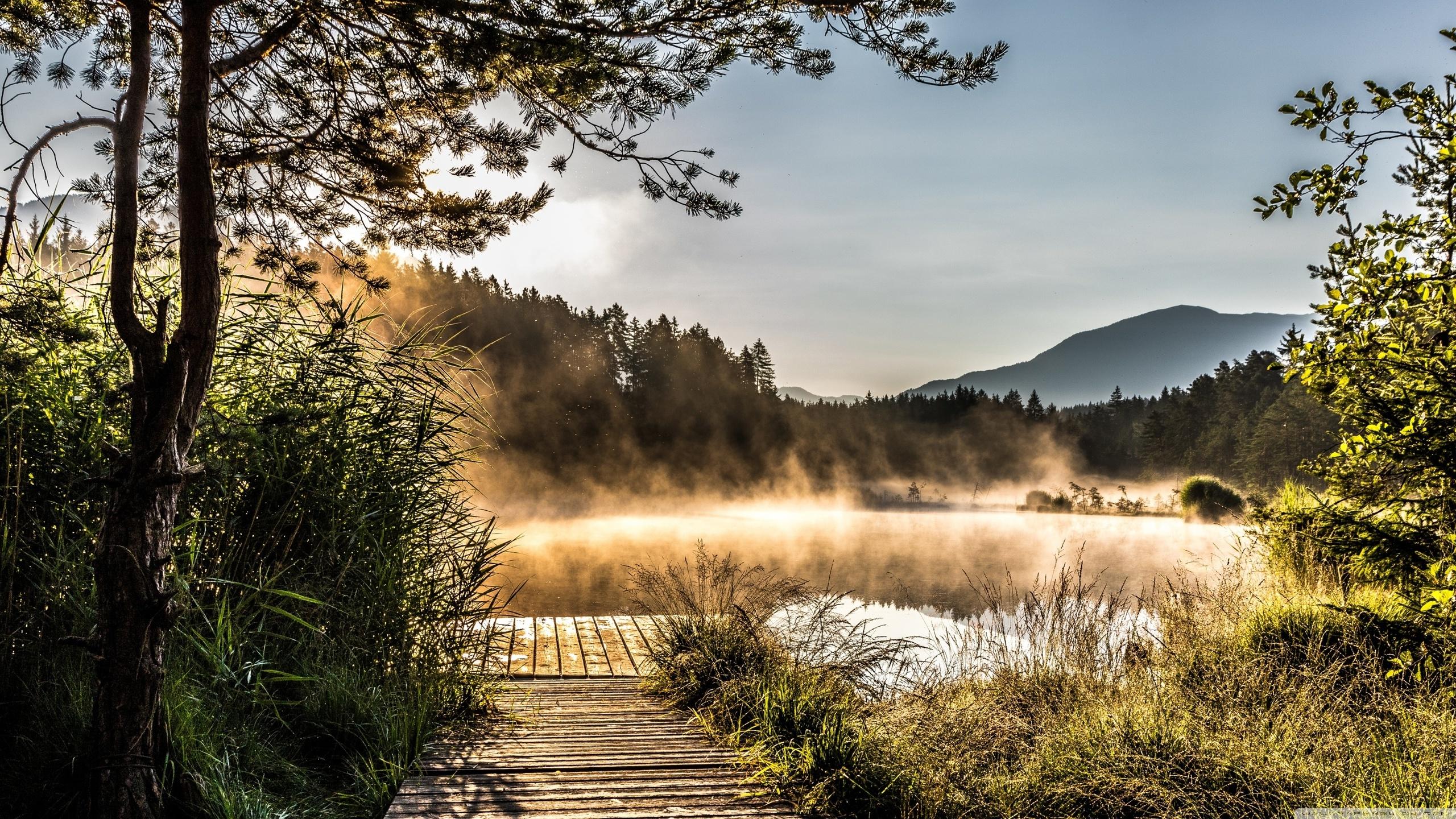Egelsee Lake in Carinthia (2560x1440)