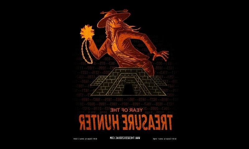 Humor geek hunter numbers zodiac artwork characters treasure (800x480)