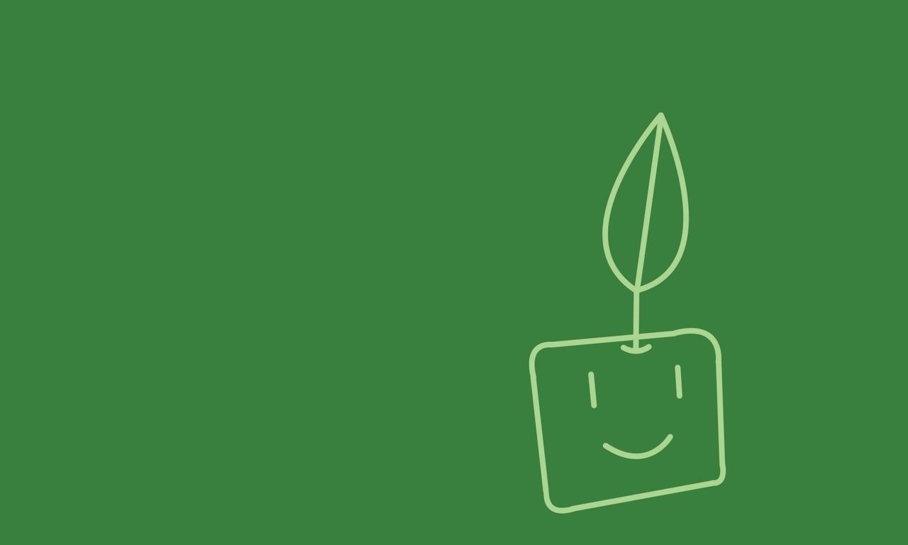 Minimalistic plants artwork (1280x768)