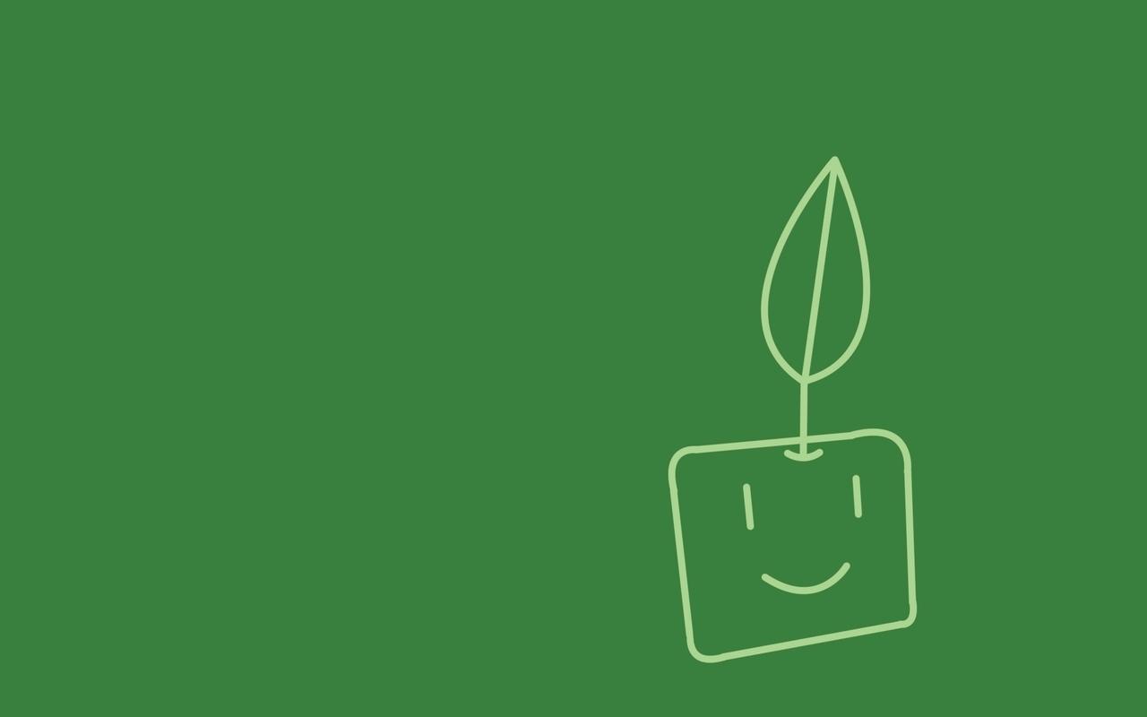 Minimalistic plants artwork (1280x800)
