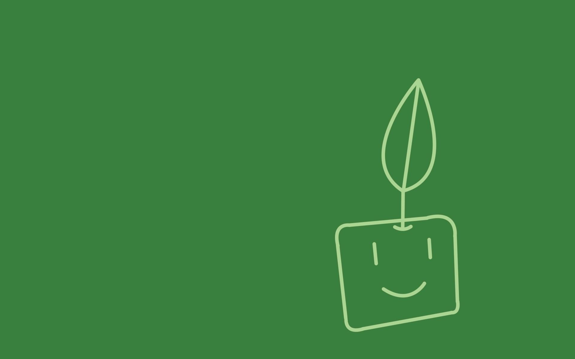 Minimalistic plants artwork (1920x1200)