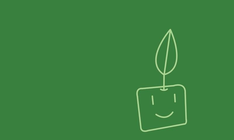 Minimalistic plants artwork (800x480)