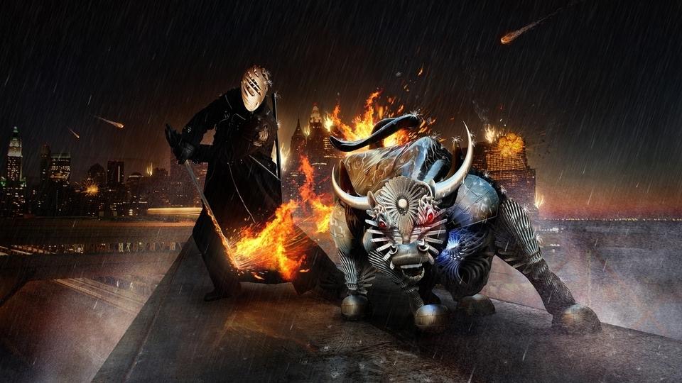 Monsters fire fantasy art artwork (960x540)