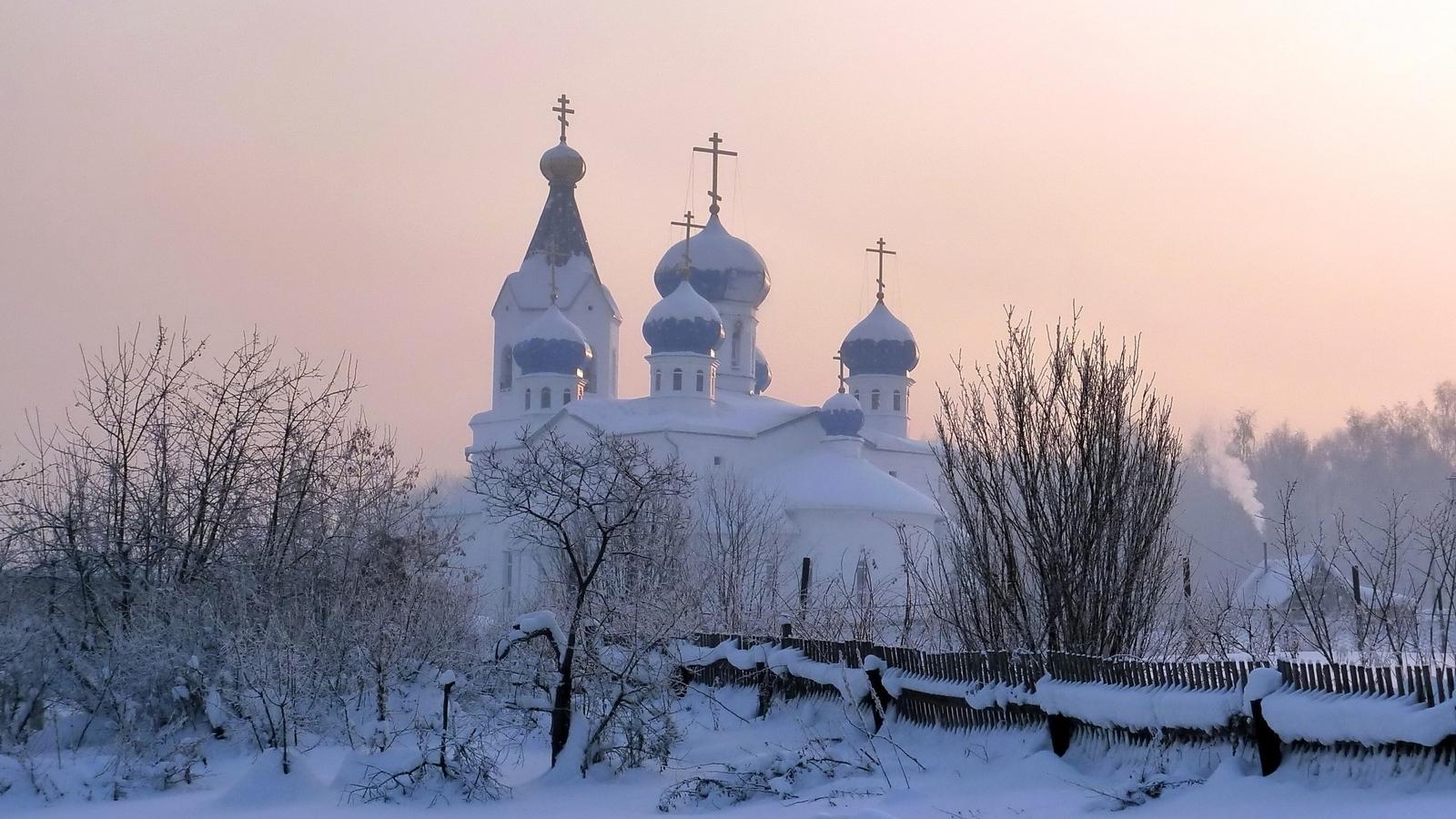 мечети храмы-притоны-лозореты-церкви-зимние на рабочий стол