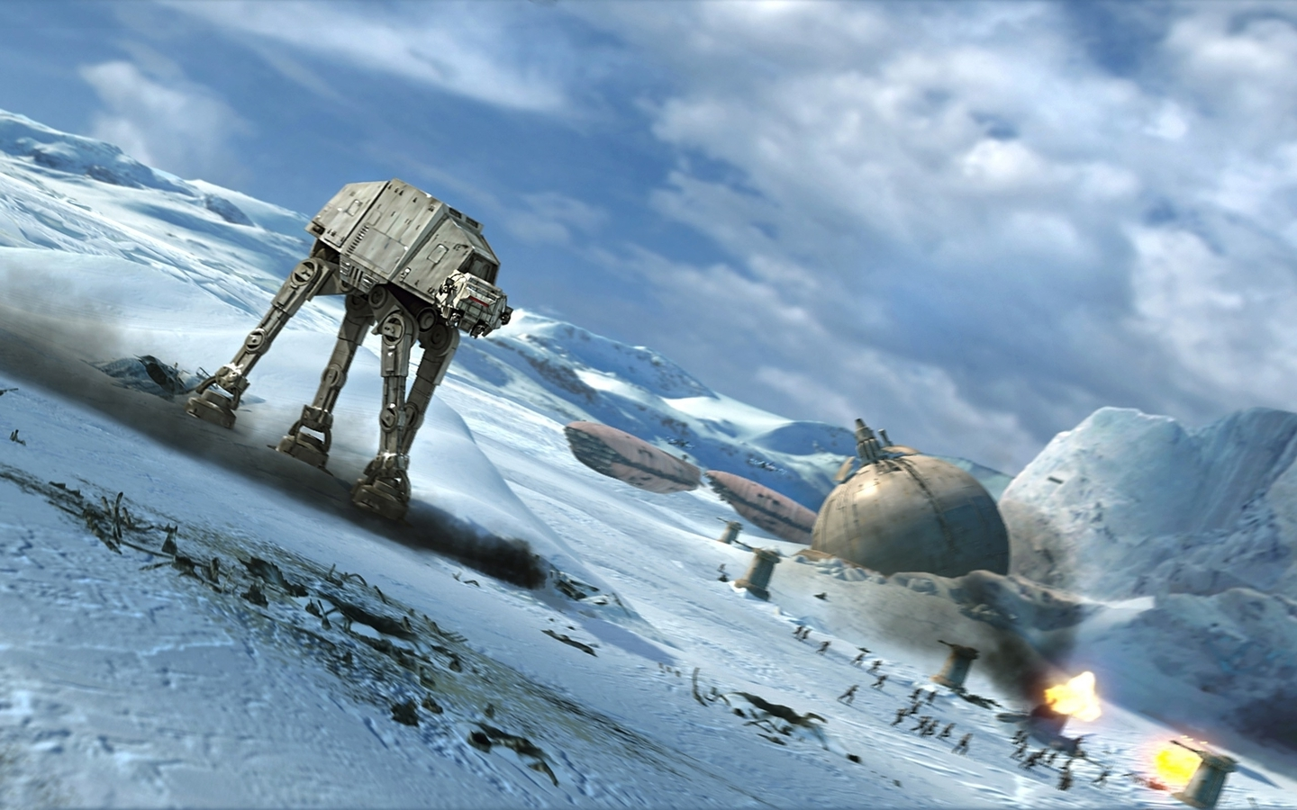 Star wars hoth battles atat (1440x900)